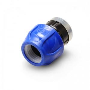 Муфта компрессионная ВР 20x1/2″ PN16 усиленная оцинк. кольцом Poelsan
